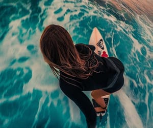 surfing, girl, and lifestyle image