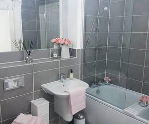 bathroom, grey, and home image