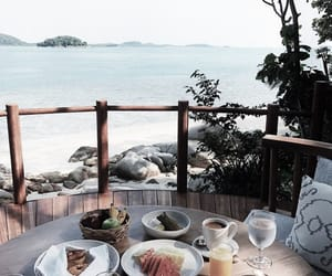 food, vacation, and beach image