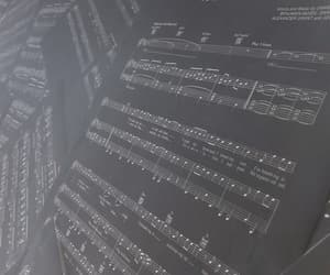 music, music notes, and black image