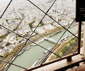 city, paris, and eifel tower image