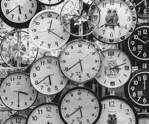 black, white, and clock image