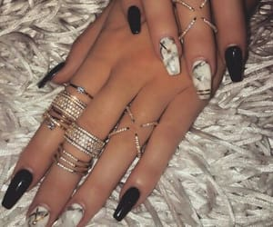 nail art, rings, and nail paint image