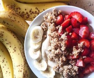 banana, breakfast, and cornflakes image