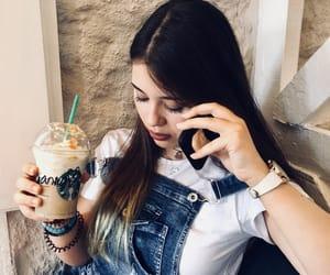 coffe, starbucks, and phone image
