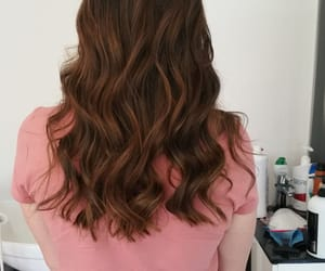 curly hair, hair, and highlights image