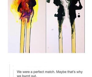 love, match, and fire image