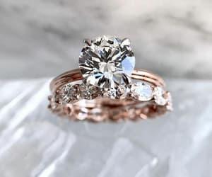 bride, diamonds, and wedding rings image