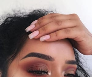 makeup, nails, and make up image