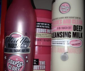 body, body spray, and soap and glory image
