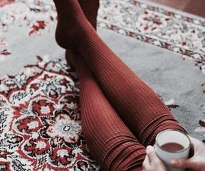 autumn, socks, and coffee image