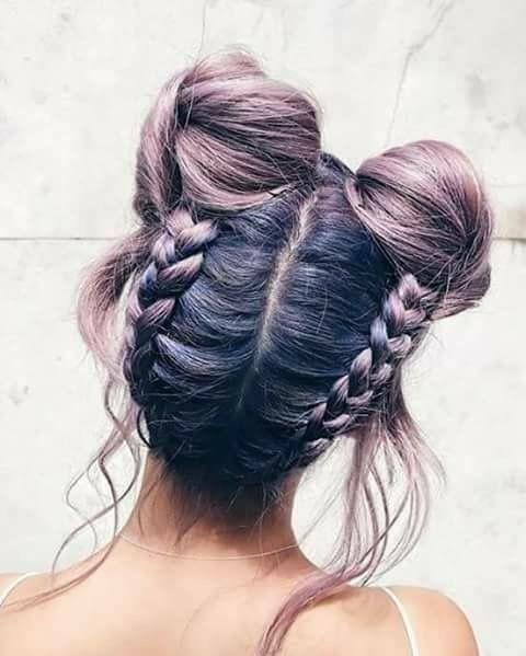 braids, buns, and haïr image
