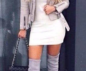bag, dress, and jacket image