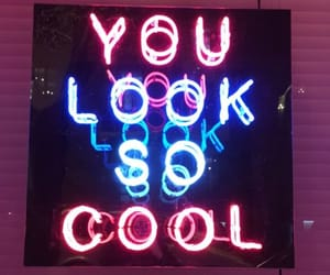 blue, cool, and neon image