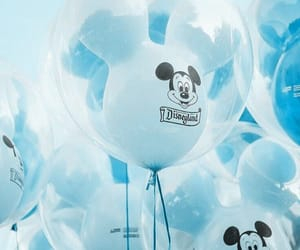 balloons, blue, and disney image