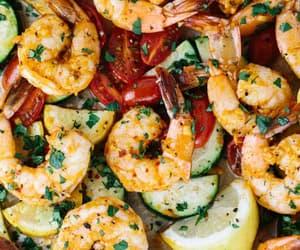 food, garlic, and shrimp image