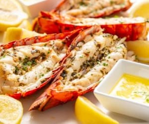 food, grilled, and lobster image