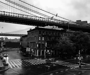 black and white, bridges, and Brooklyn image