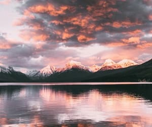 clouds, landscapes, and mountains image