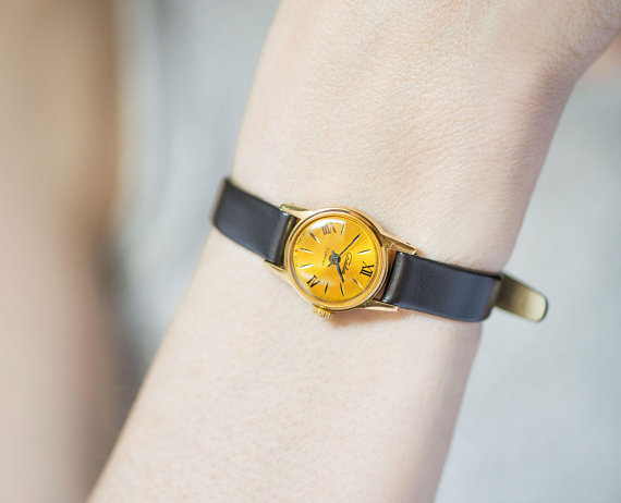 etsy, ladies watch, and roman numerals watch image