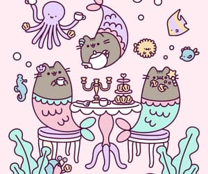 pusheen, cartoon, and kawaii image