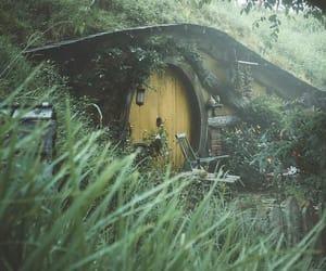 door, garden, and hobbit image
