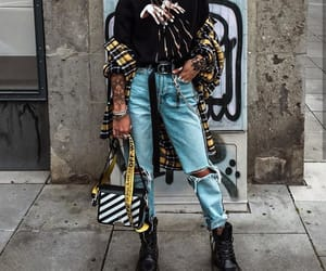 off-white, outfit, and style image