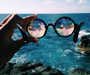 sea, summer, and glasses image