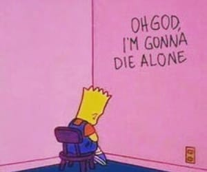 alone, bart, and simpsons image