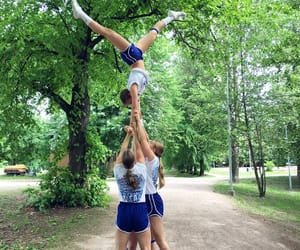 handstand, nature, and stunt image