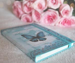 blue, journal, and pink image