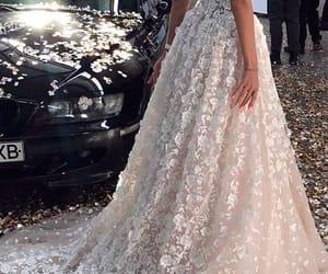dress, bride, and wedding image