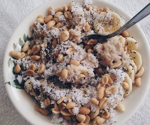 banana, delicious, and granola image