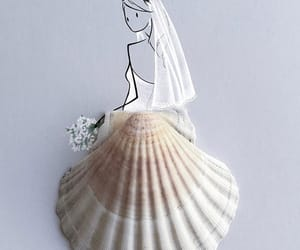 bride, dress, and shell image