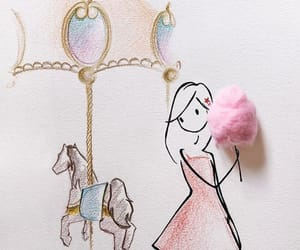art, candy floss, and carnival image