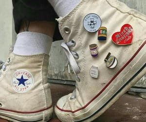 converse, shoes, and pins image