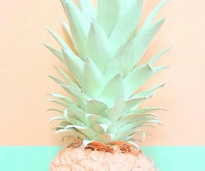 pineapple, blue, and pastel image
