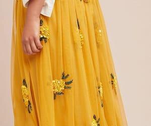 yellow, fashion, and skirt image