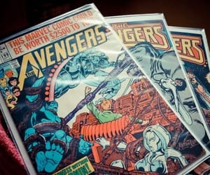 aesthetic, book, and Marvel image