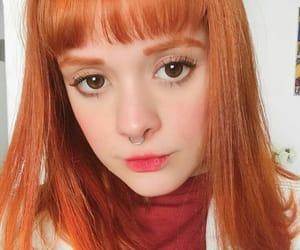 girls, kawaii, and orange hair image