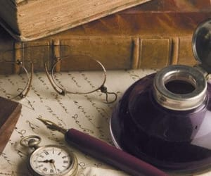 books, old, and pocket watch image
