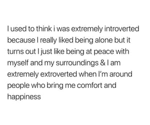 comfort, happiness, and extrovert image
