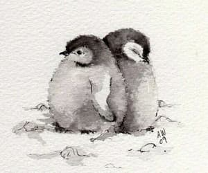penguin, art, and cute image