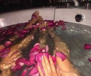bath, nails, and pink image
