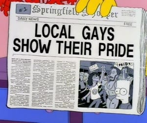 bart, the simpsons, and gay image