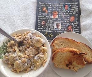 banana, bread, and breakfast image
