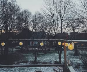 cold, lights, and snow image