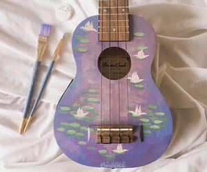 guitar, art, and purple image