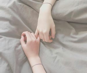 girl, hands, and pale image