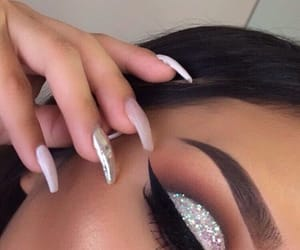 beauty, makeup, and bling image